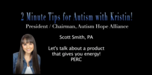 2 Minute Tips for Autism video with Kristin