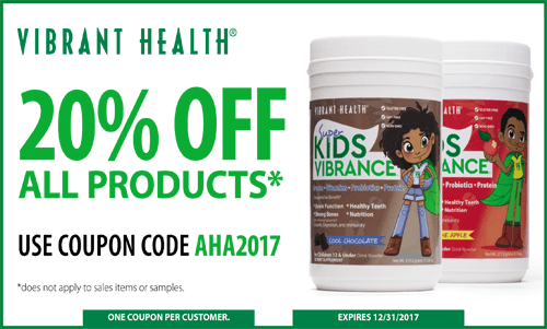 Vibrant Health Aha Coupon 2017 Autism Hope Alliance