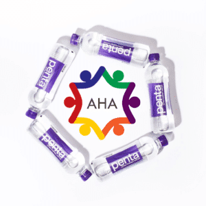 Autism Hope Alliance's Logo with Penta Water Bottles