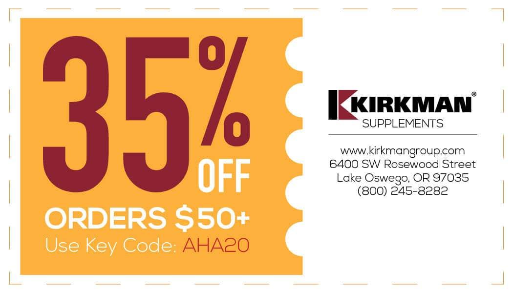 Kirkman Coupon 35%